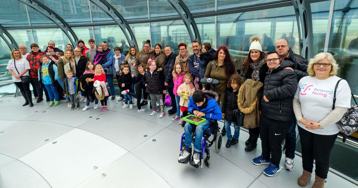 Forward Facing families at the i360 in Brighton